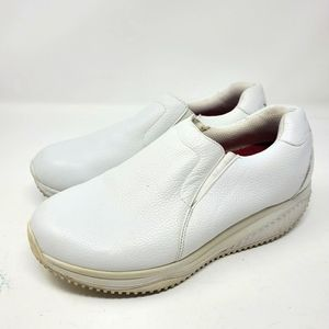 Skechers Work Shape Ups White Leather Shoes Size 8